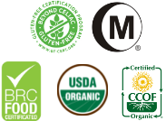 Organic and certified products